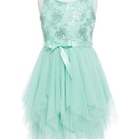 Zunie Floral Sequin Fairy Hem Party Dress (Toddler Girls, Little Girls & Big Girls) | Nordstrom