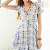 Kimchi Blue Dylan Plaid Shirtdress- Blue Multi