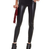 Black High-Waisted Liquid Legging by Charlotte Russe
