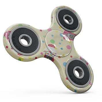 The Fun Colorful Gumball Machine Pattern Full-Body Fidget Spinner Skin-Kit