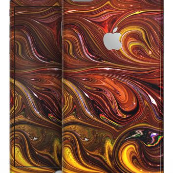 Red Acrylic Swirl - Skin-kit for the iPhone 8 or 8 Plus
