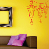 Paper Lantern Wall Decal Sticker Art Graphic