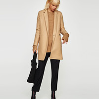 SOFT-FEEL DOUBLE-BREASTED COAT DETAILS