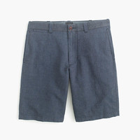 "J.Crew Mens 10.5"" Stanton Short In Crosshatched Irish Cotton-Linen"