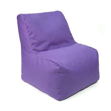 Sectional Denim Look Bean Bag Chair - Purple