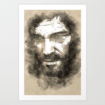 Joel - The Last Of Us [sketch] Art Print by naumovski