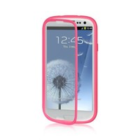 Dream Wireless Full Protection with Screen Protector Wrap-Up Case for Samsung Galaxy S3/III/I747/I9300 - Retail Packaging - Hot Pink