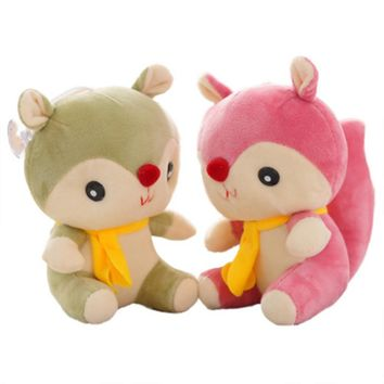 1Pcs 20cm Child Kids Stuff Toy Cute Animal Squirrel Stuffed Animal Toy High Quality Soft Doll Baby Toy Best Christmas Gift