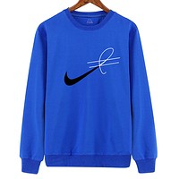 NIKE 17AW Embroidery Round-Neck Sweatshirt Pullover Top Sweater