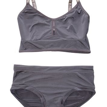 Classic Bralette Set in Gray