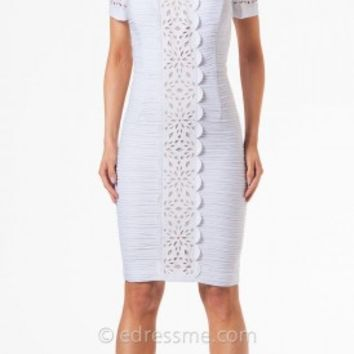 Laser Cut Strip Cocktail Dresses By Nue By Shani