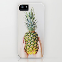Simply Pineapple iPhone & iPod Case by Olivia Joy StClaire