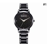 GUCCI 2018 trendy men's and women's simple starry waterproof watch F-CTZL #1