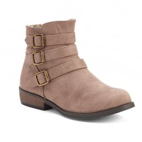 Mudd Girls' Buckle Ankle Boots