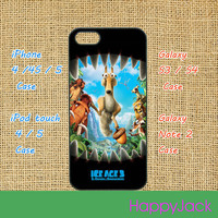 ice age, crash and eddie - iPhone 5 case, iphone 4 case, ipod touch 4, ipod 5, samsung galaxy S3, samsung galaxy S4, samsung galaxy note 2