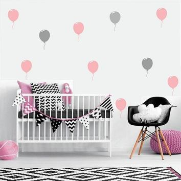 Large Balloon Sticker Set,  Wall Art Stickers Removable DIY vinyl wall decals baby nursery wall art mural kids room home decor A689