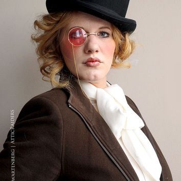Pink Costume Monocle Steampunk Glasses Cosplay Eyewear