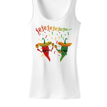 Jejeje Mexican Chili Peppers Womens Tank Top