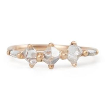 Catbird :: shop by category :: JEWELRY :: Triple Pyramid Baguette Ring