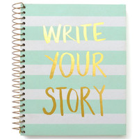 Write Your Story Gold Foil Notebook