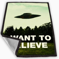 I Want To Believe X-Files Blanket for Kids Blanket, Fleece Blanket Cute and Awesome Blanket for your bedding, Blanket fleece **