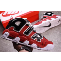 Supreme x Nike Air More Uptempo Big R Scottie Pippen White/Red Sport Basketball Shoes G-FEU-SY