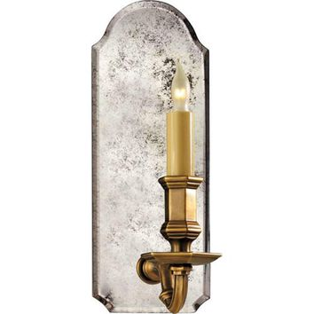 Visual Comfort and Company CHD1171AM-AB Antique Mirror and Brass Small Antique Mirror Wall Light