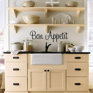 Bon Appetit (Kitchen) Custom Vinyl Wall Decal-Kitchen Wall Decal-Wall lettering-Wall Words-Vinyl Wall Decal