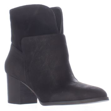 Nine West Dale Pull On Ankle Boots, Black/Black, 7 US