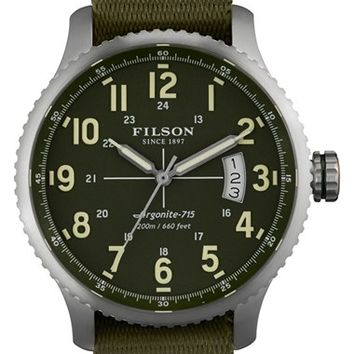 Men's Filson 'The Mackinaw Field' Nato Strap Watch, 43mm