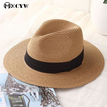 New Fashion Summer Women Sun Caps Straw Hat Female Casual Panama Hat Sunhats Jazz Hat Beach Hats Chapeau De Paille Femme