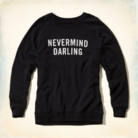 Nevermind Darling Graphic Sweatshirt