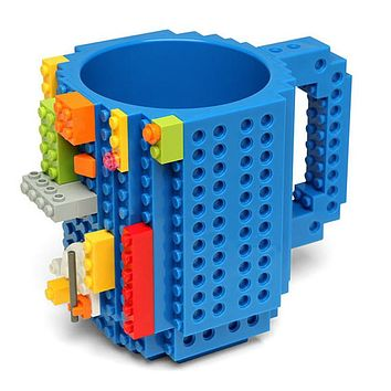 DIY Lego Type Block Puzzle Mug