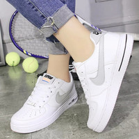 Women Men NIKE Running Sport Casual Shoes Sneakers Low help shoes White Grey hook