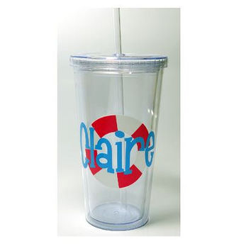 Personalized Monogram Tumbler 20 oz with Interlocking Vines Monogram