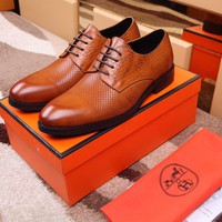 Hermes Men's Business Leather Shoes