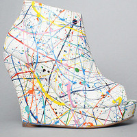 The Tick Paint Shoe in White Multi by Jeffrey Campbell Shoes | Karmaloop.com - Global Concrete Culture