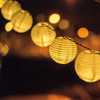 Solar  Operated    Lantern  String  Lights  Christmas