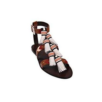 ICIKG2C Tory Burch Weaver Tassel Sandals