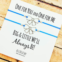 Big, Little Sorority Sister Bracelets | Silver Bow Bracelets | Sorority Sister Reveal Gift Jewelry | Big Little Matching Bracelets