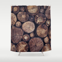 The Wood Holds Many Spirits // You Can Ask Them Now Edit Shower Curtain by Tordis Kayma