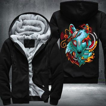 Digital Wolf Fleece Jacket