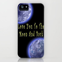Love You To The Moon iPhone Case by Alice Gosling | Society6