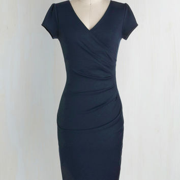 I Think I Can Sheath Dress in Navy | Mod Retro Vintage Dresses | ModCloth.com