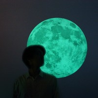 Supermarket: Moonlight wall-sticker /L-size, CLAIR DE LUNE (glow in the dark moon wall-sticker-50cm/19.6inch) from i3Lab. [i-cubed-lab] design studio