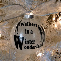 Walking Dead Christmas Ornament, Walkers Ornament, Zombie Christmas, Walking Dead Decor, Winter Wonderland Ornament