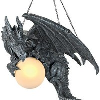 Nights Fury Sculptural Hanging Dragon Lamp - CL1868 - Design Toscano