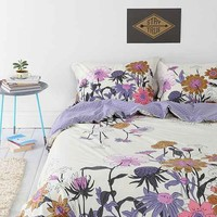 Plum & Blow Wallflower Duvet Cover- Lavender Full/queen