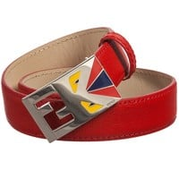 Fendi Boys 'Monster' Red Belt