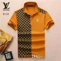 Popular brand designer box logo men's casual fashion T-shirt medusa cotton polo shirt lapel short sleeve luxury T-shirt 13-LV
